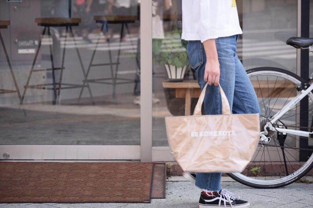 米袋で作ったKOMEKOYA オリジナルバッグ